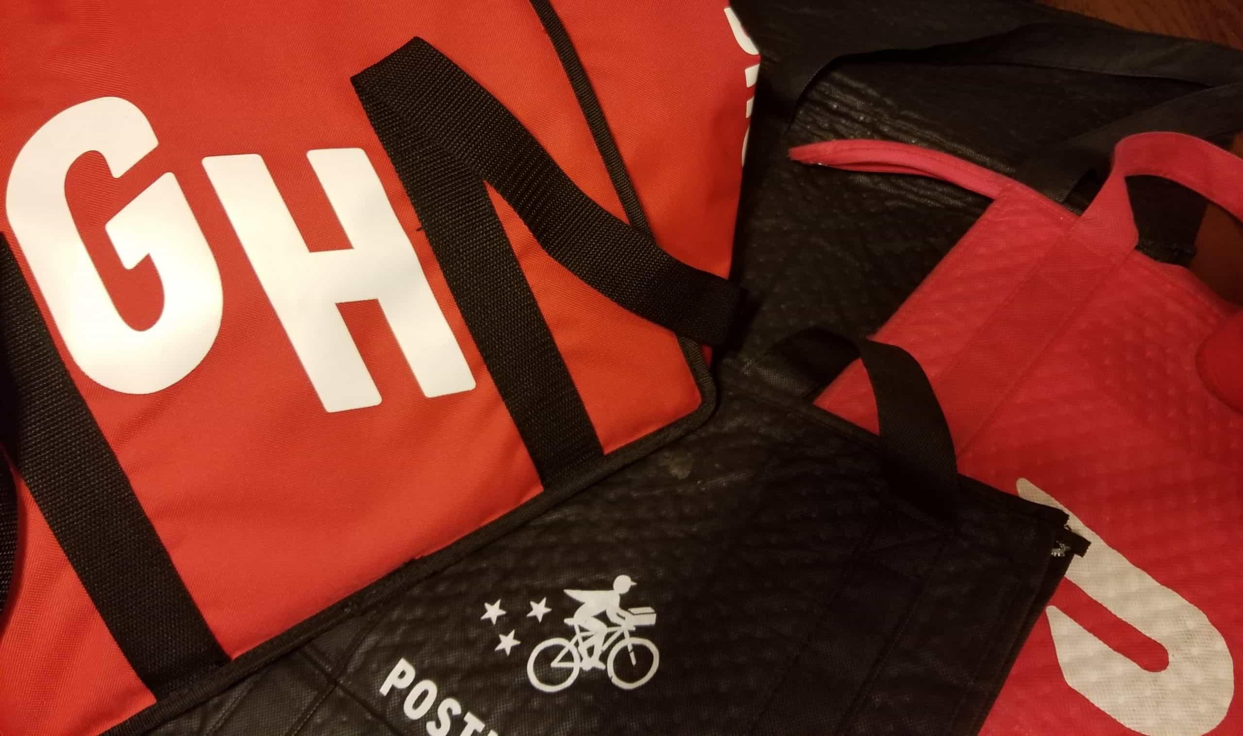 Grubhub, Postmates, UberEats and Doordash Insulated Delivery Bags