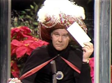 Image of Johnny Carson's character, Carnac the Magnificent - By Source, Fair use, https://en.wikipedia.org/w/index.php?curid=2560897