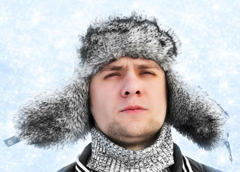 This is the image that comes to mind when I think of the flaps. (Picture of a man with a winter hat with ear flaps)