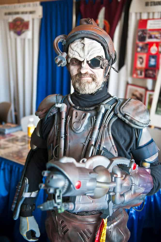 Will a takeover of Postmates mean assimilation by Uber Eats? (Cosplay character dressed as the Borg from Star Trek