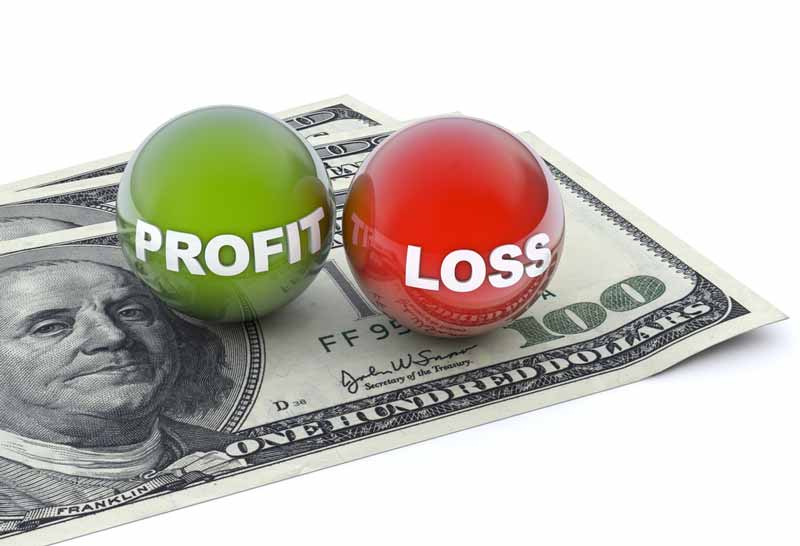 Profit and Loss indicating the actual earnings for a contractor (symbolized by hundred dollar bills)