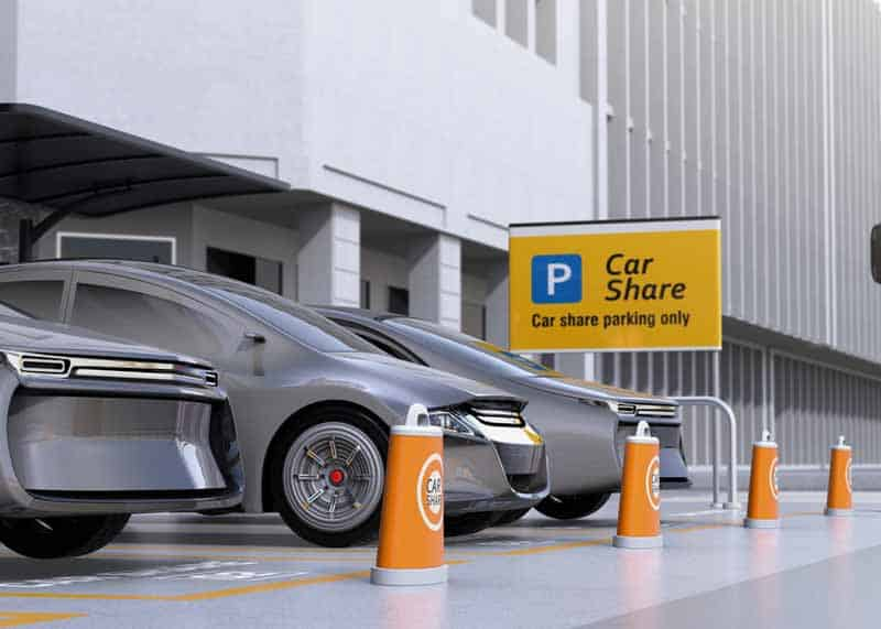 Care Share parking area with reference to Lyft entering delivery.