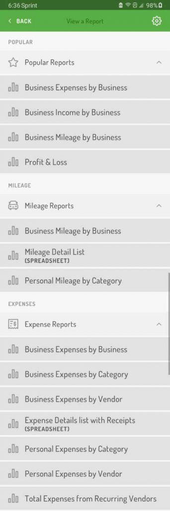 Hurdlr has a long list of report options
