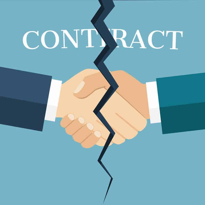 image of handshake being split by a contract violation