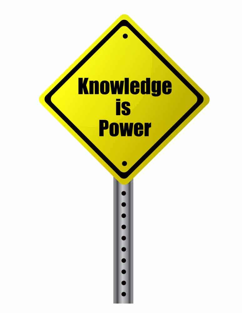 Knowledge is power sign relating especially to independent contractor taxes