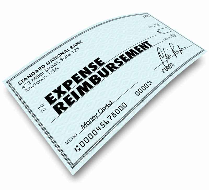 Clearly stated reimbursement check