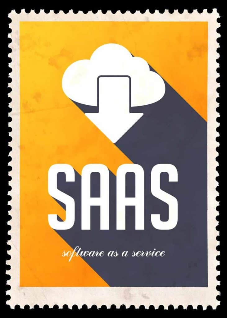 SAAS concept picture: Software as a Service which would be an office expense.