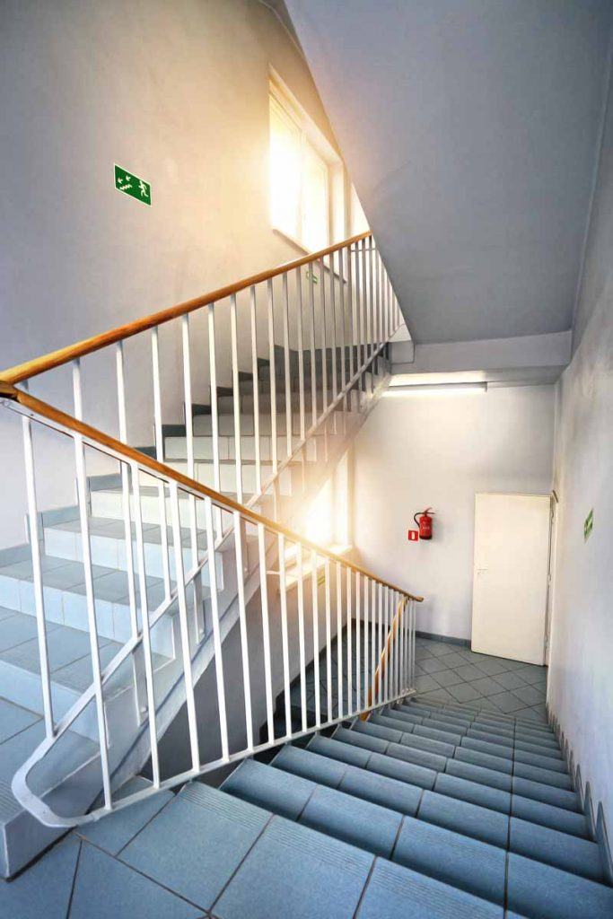 Picture of emergency exit and stairway