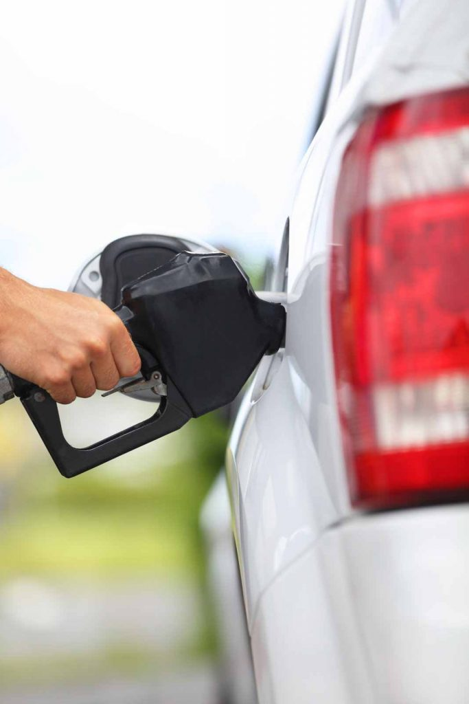 Person filling their car with gas but not being reimbursed under Prop 22