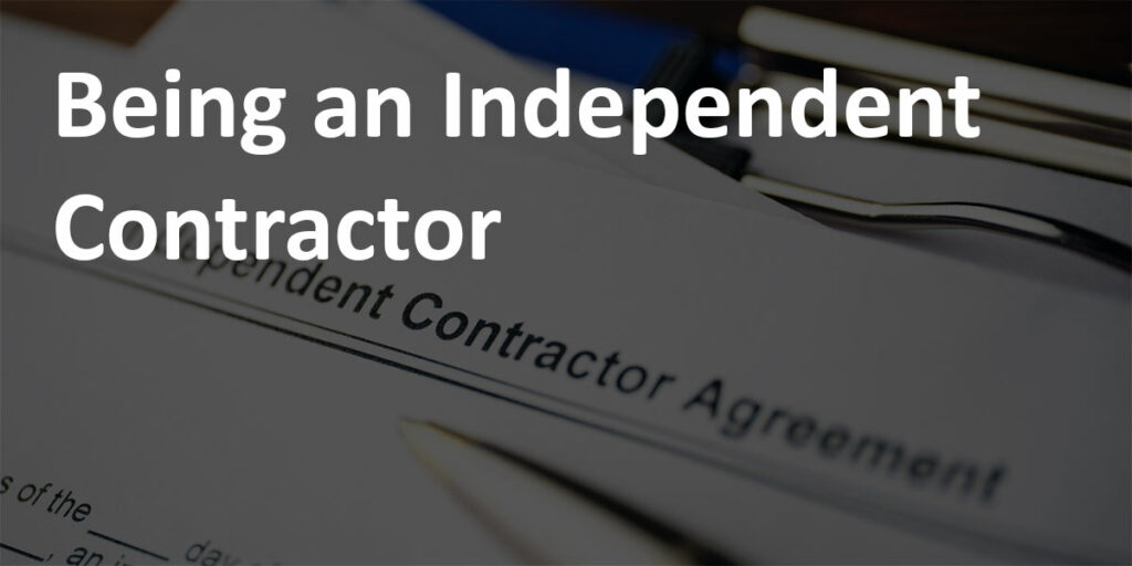 "Pen and Independent Contractor Agreement with caption ""Being an Independent Contractor."""