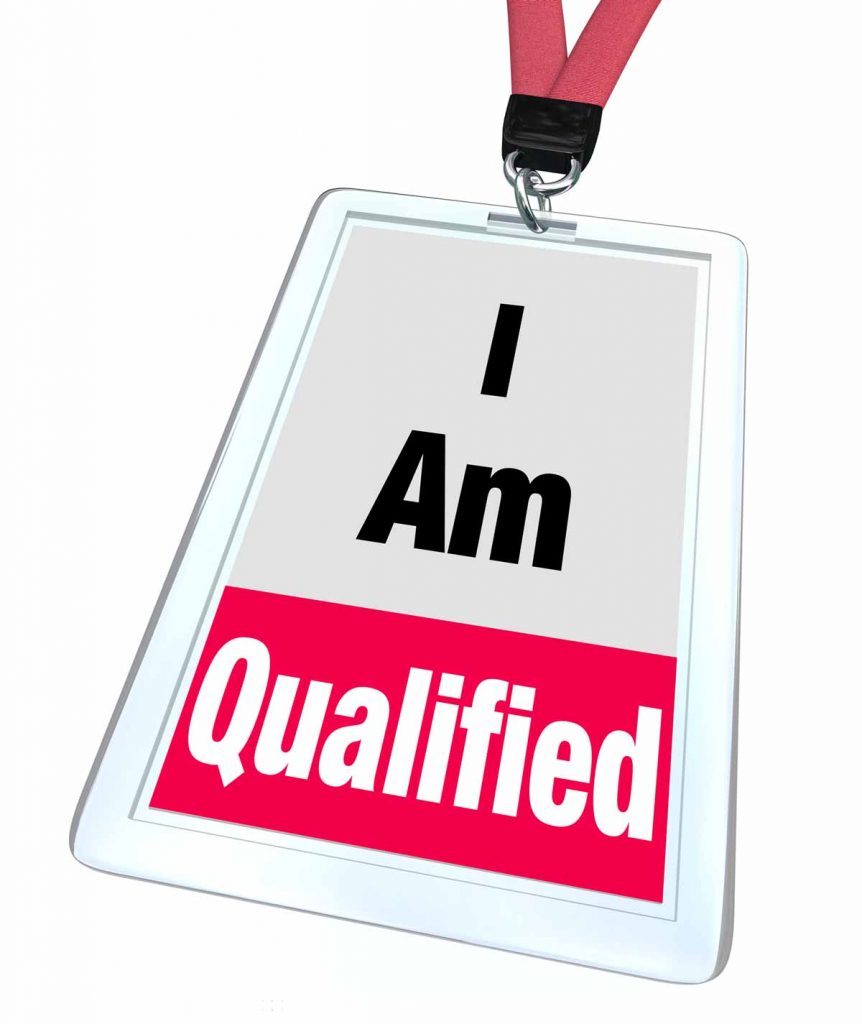 "An Independent Contractor can wear this Lanyard holding sign that says ""I am qualified"" for the EIDL loans."