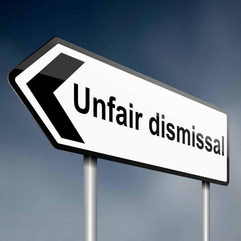 Sign stating unfair dismissal referencing Doordash deactivations