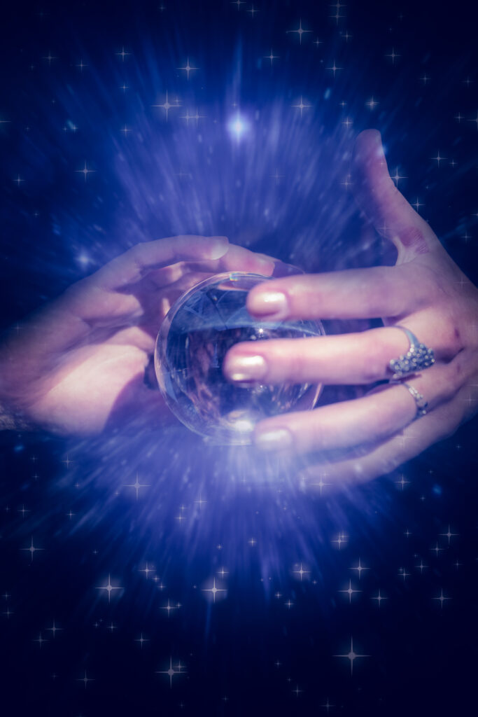 womans hands around a crystal ball as she tries to figure out if pro act will pass.