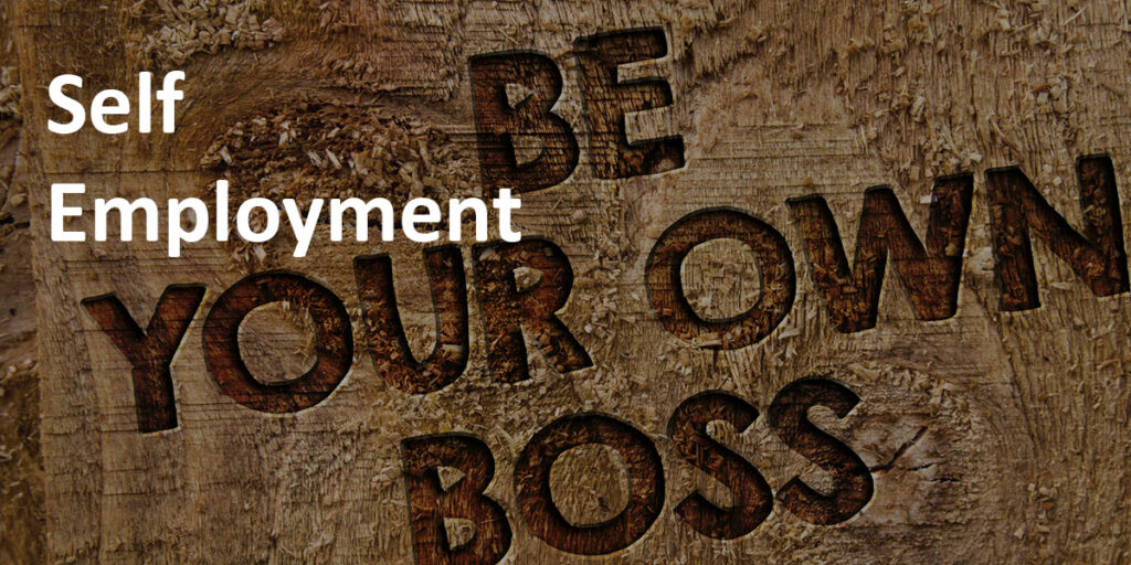 Self Employment label over image of