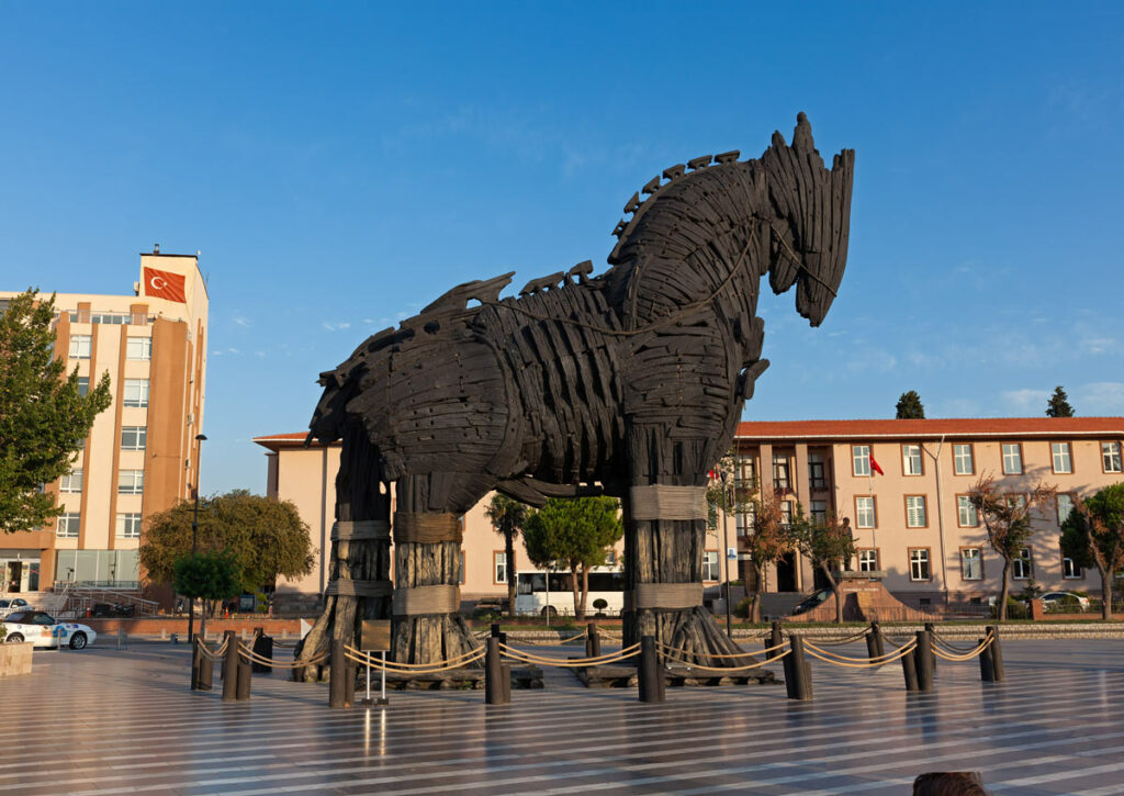 Trojan horse that was made for the movie Troy symbolizes the 1099k surprise in the American Rescue Plan.