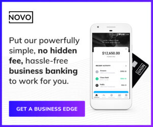 Sponsored image: Affiliate link for Bank Novo to create a business bank account.