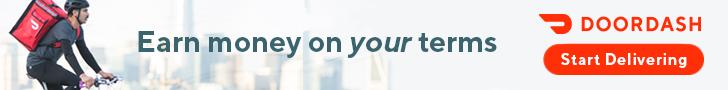 Sponsored ad image: Earn money on your terms. Doordash. Start Delivering.