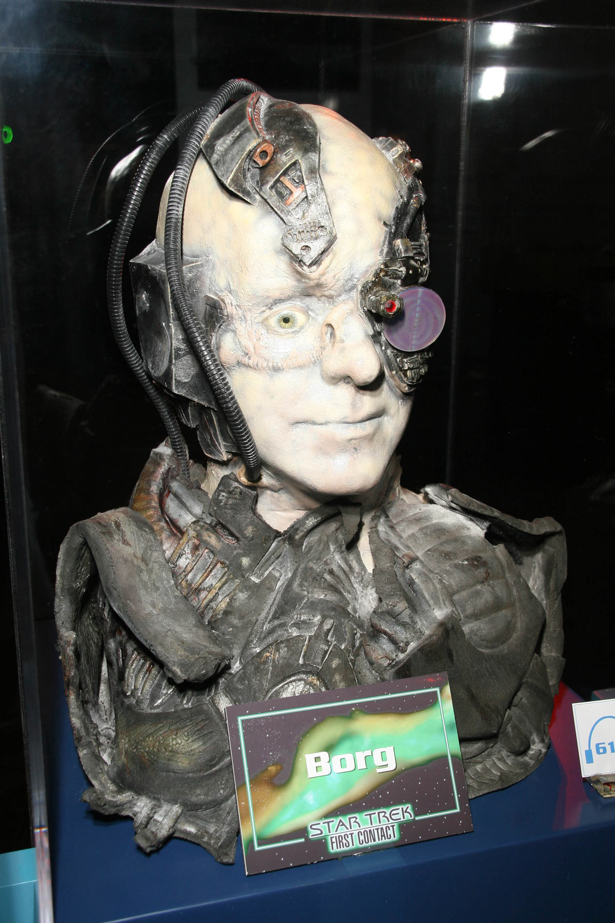 Image of the Borg at a Star Trek display illustrating the idea that Postmates is being assimilated by Uber Eats.