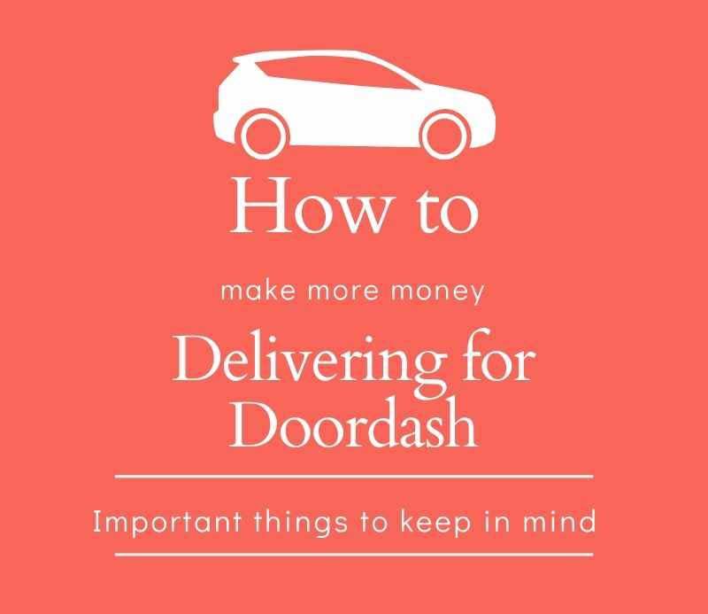Image of a car and title reading How to make more money delivering for Doordash
